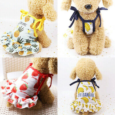 Summer Small Pet Dog Clothes Dog Dress Skirts For Dogs Pets Cat Puppy Clothing@