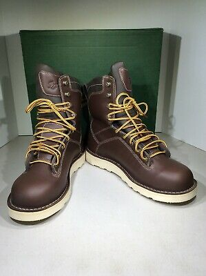 "b30f112c0f0 DANNER QUARRY USA 8"" GTX Men Sz 11.5 Brown Alloy Toe Work Safety Boots  X21-1191"