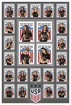 U.s. Women's 2019 World Cup Champs Sports Illustrated Collage Poster