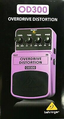Behringer - OD300 - Overdrive and Distortion Stompbox Effect Pedal
