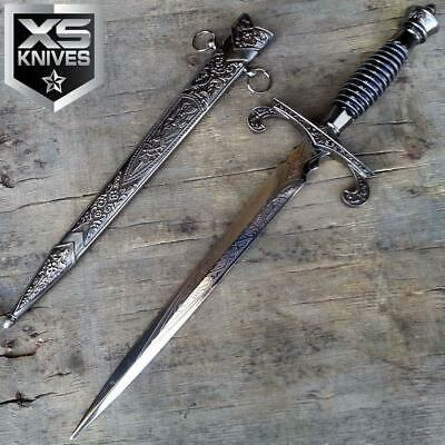 "15"" Fantasy Roman Collectible Style Medieval Fixed Blade Dagger w/ Sheath"