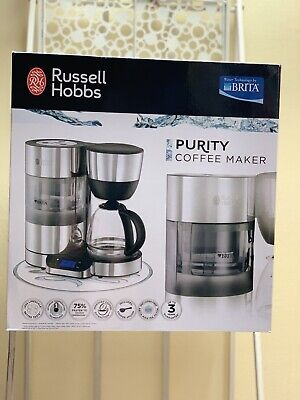 BRAND NEW Russell Hobbs 20770 10 Cup Purity Coffee Maker with Timer-Silver/Black