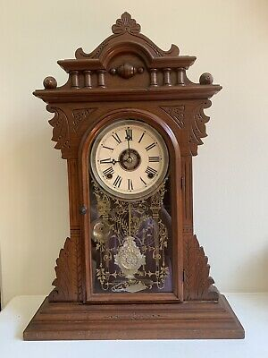 Antique E.N. Welch Mantel / Kitchen Clock with Alarm