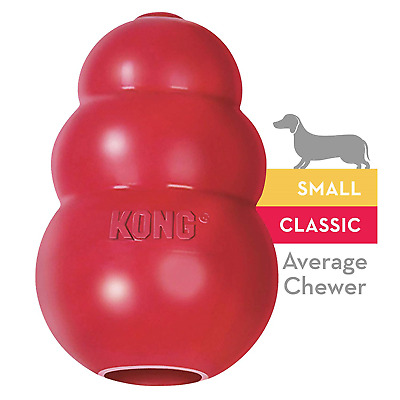 KONG - Classic Dog Toy - Durable Natural Rubber - Fun to Chew, Chase and Fetch -