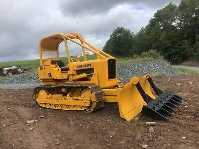 John Deere 450c Crawler Dozer With Root Rake