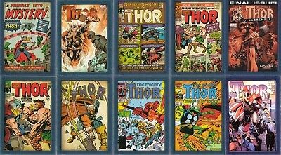 Thor Comic Book Covers Insert lot x10
