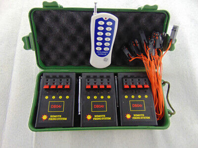 Free Shipping 12Cues fireworks firing system Salvo fire Safety new Double Remote