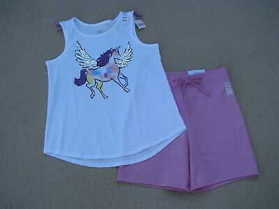 NWT Justice Girls Justice Mermaid Tank Top//Snuggly Soft Shorts Size 6 7 8 12
