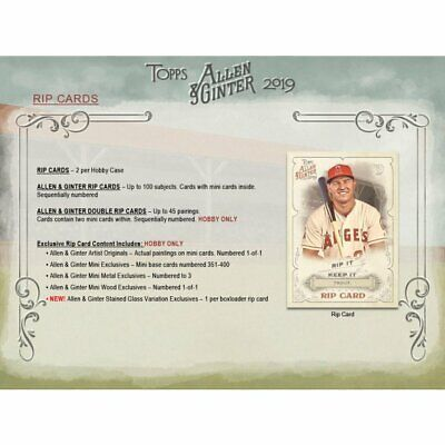 2019 TOPPS ALLEN & GINTER Hobby Box Break; Pick-Your-Team; 3 GUARANTEED HITS!