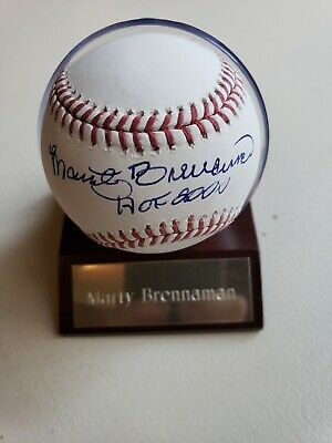 "Marty Brennaman ""Hof 2000"" Reds Autographed Signed Rawlings Baseball"