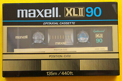 1x MAXELL XL II 90 Cassette Tape 1982 + OVP + SEALED + Folienfehler +
