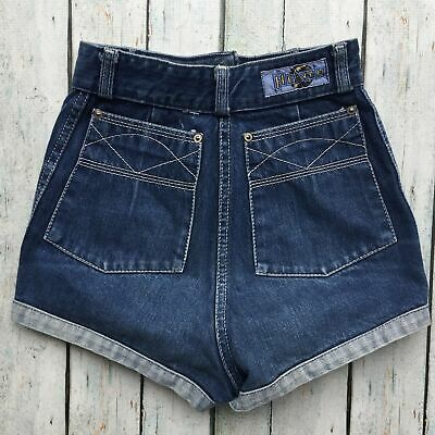 Genuine 1970's Vintage Denim Cheeky Shorts- 22""