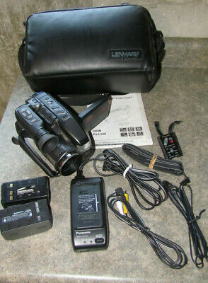 Panasonic PV-L559 VHS-C Analog Camcorder - 2 Batteries, Charger, Remote , Case