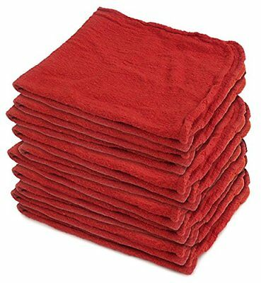 Buffalo Industries (62017) 14-Inch X 14-Inch Red Shop Towel Rags Wipes 50 pk