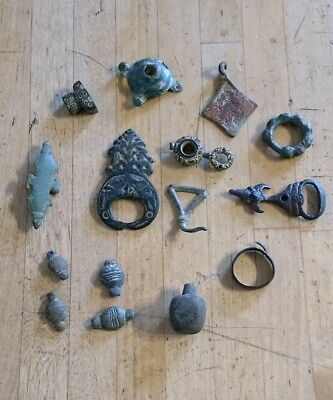 Roman Saxon Medieval Artifacts - Lot Of Metal Detecting Finds Salisbury Wilts UK
