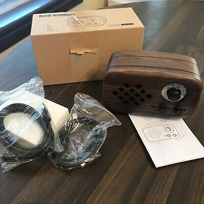 Rerii Memories Handmade Wood Craft Portable Bluetooth Speaker With FM/AM
