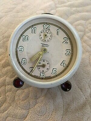 Vintage Mid Century Diehl Repetition Cream  Alarm Clock Made In Germany
