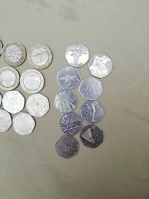 A rare collection of 50p and £2 coins