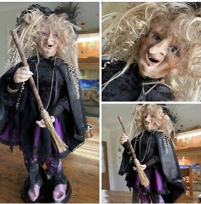 Hand Crafted Witch On Stand