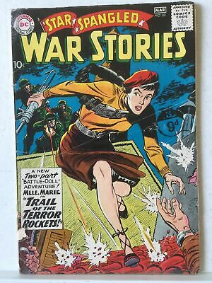 Star Spangled War Stories # 89 GD 2.0 Classic Madmoiselle Marie Cover 1960