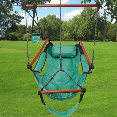 Outdoor Hanging Chair Hammock Swing Seat Swinging Portable Garden Patio Green