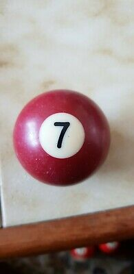 "2"" Inches Replacement Pool Ball - Spare Pool Balls 2inch VGC number 7"