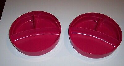 2 Tupperware Children's Divided Dishes - 3 compartments - Good Condition