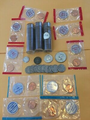 Huge US Coin Collection/ Lot 1930's Lincoln Cent Rolls, Silver Coins, Buffalo 5c