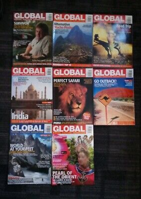 33x Global Magazine Back Issues in Excellent Condition