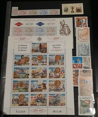 Timbre Monaco Neuf** Annee Complete 1997 Bloc Luxe Mnh