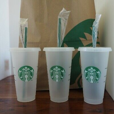 Starbucks Mermaid Siren Logo Reusable Frosted Cold Cup Coffee Tea Tumbler