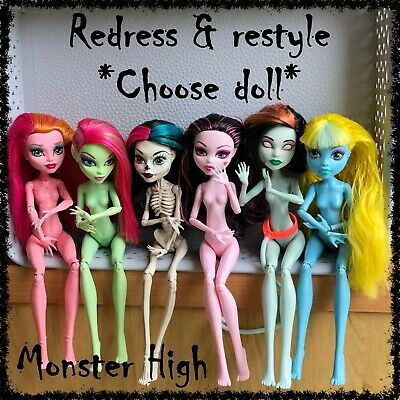 MONSTER HIGH Nude Doll, Redress / Restyle, OOAK ~SELECT DOLL~ 1 incl. (lot 20)