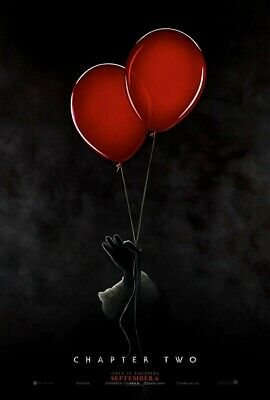 "It Chapter Two 2 (2019) 11""x17"" Authentic Movie Mini Poster!! Pennywise McAvoy"