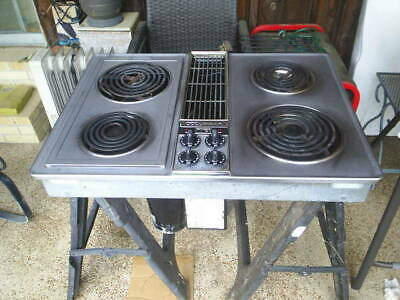 jenn air cooktop model # c 203 with interchangeable grill and griddle plate