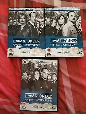 Law And Order Special Victims Unit Boxset Series 6,7,8