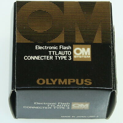 Olympus Electronic Flash Ttl Auto Connector Type 3 Für Om System Analog In Ovp