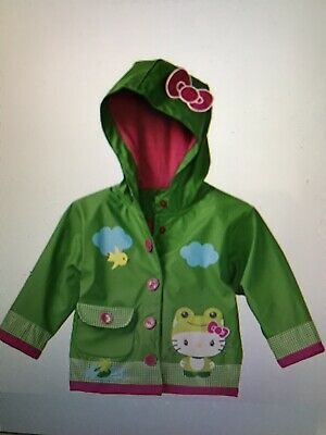 Western Chief Hello Kitty Girls Froggy Raincoat, New in Packaging, Size 4/5