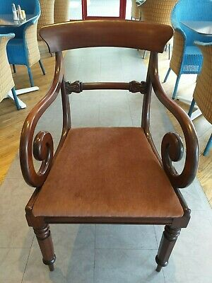 Antique Georgian Regency William IV armchair dining carver single CHAIR mahogany