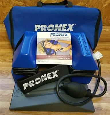 """NEW PRONEX Pneumatic Cervical Traction System-Large 16""""-18"""" with 15-22° Wedge"""