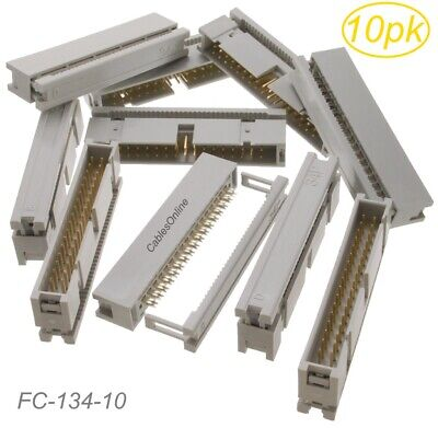 10-Pack 34-Pin Male IDC Flat Ribbon Cable Box Header 2.54mm Pitch Connectors