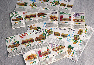 Subway coupons for meal deals 8x