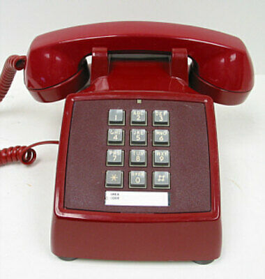Red Western Electric 2500 TouchTone Desk Telephone - Full Restoration