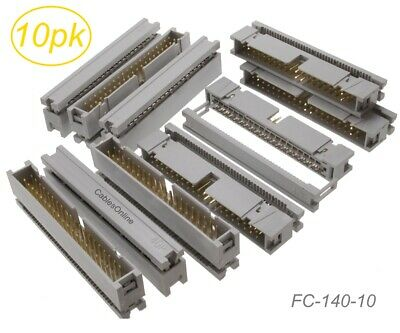 10-Pack 40-Pin Male IDC Flat Ribbon Cable Box Header 2.54mm Pitch Connectors