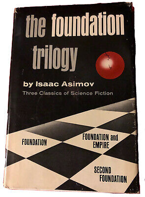 ISAAC ASIMOV The Foundation Trilogy Vintage 1951 SciFi Book In Dust Jacket Rare