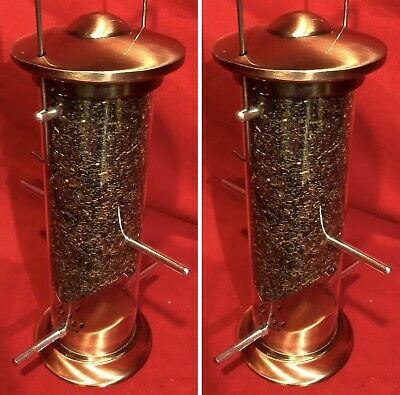 "Mealworm Feeder 12/"" Heavy Duty HAMMERED STEEL Metal SQUIRREL PROOF FREE FOOD"