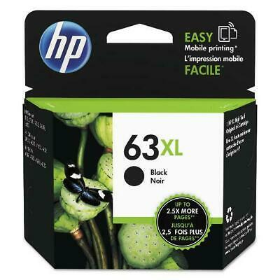 Genuine HP 63XL High Yield Black Ink Cartridge Exp 10/2020
