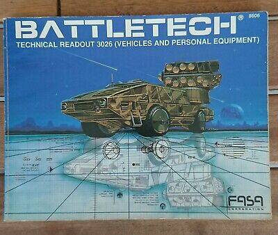 BATTLETECH 8606 - Technical Readout 3026 (Vehicles and Personal Equipment)