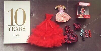 Barbie Fashion Model Collector Silkstone BFMC Dresses Shoes 10 Year Tribute Book