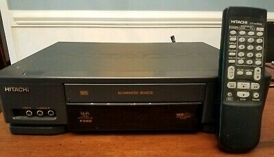 Hitachi Hi Fi Stereo VHS VCR F 392 with Remote Working Condition