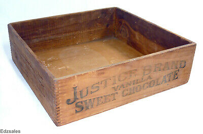 Vintage Justice William Baker Vanilla Sweet Chocolate Wood Delivery Box